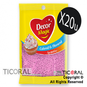 GRANA DECOR MAGIC ROSA BEBE SABORIZADA 20 X 50GRS x 1