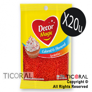 GRANA DECOR MAGIC ROJA SABORIZADA 20 X 50GRS x 1