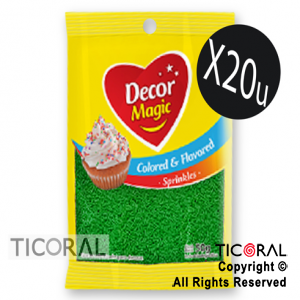GRANA DECOR MAGIC VERDE SABORIZADA 20 X 50GRS x 1
