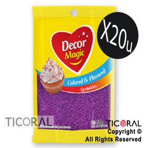 GRANA DECOR MAGIC VIOLETA SABORIZADA 20 X 50GRS x 1