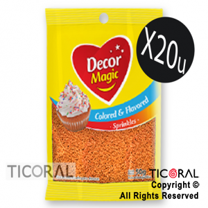 GRANA DECOR MAGIC NARANJA SABORIZADA 20 X 50GRS x 1