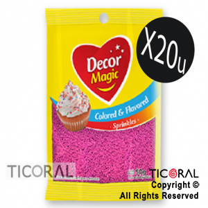 GRANA DECOR MAGIC FUCSIA SABORIZADA 20 X 50GRS x 1
