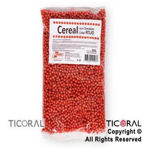 CEREAL CHOCOLATE COLOR ROJO X200GR