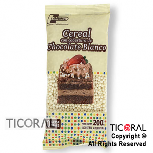 CEREAL CHOCOLATE COLOR BLANCO X200GR