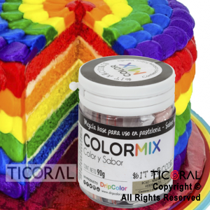 COLORMIX COLOR Y SABOR ARCO IRIS KIT x 1 FRASCO CON 6 POLVOS DE COLORES