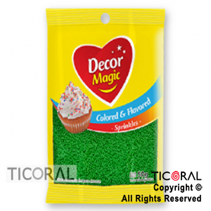 GRANA DECOR MAGIC VERDE CLARO SABORIZADA X 50GRS x 1