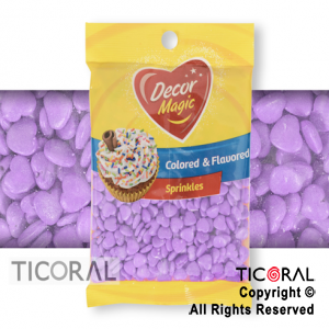 FORMITAS PARA CUPCAKES CORAZON LILA 1 X 50GRS DECOR MAGIC