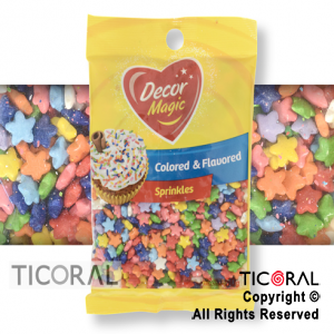FORMITAS PARA CUPCAKES ESTRELLA MULTICOLOR 1 X 50GRS DECOR MAGIC