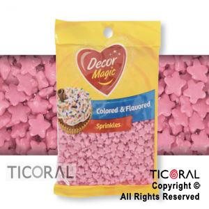 FORMITAS PARA CUPCAKES ESTRELLA ROSA 20 X 50GRS DECOR MAGIC