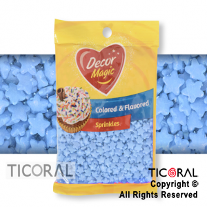 FORMITAS PARA CUPCAKES ESTRELLA CELESTE 1 X 50GRS DECOR MAGIC