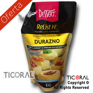 RELLENO FRUTAL DURAZNO X1KG LISTO HORNEABLE RELIST H