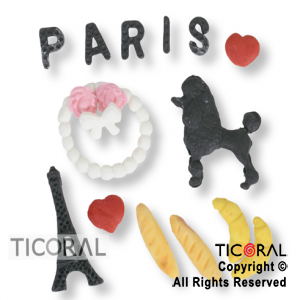 SET CANDY BAR TEMATICA PARIS 1 x 50 UNIDADES