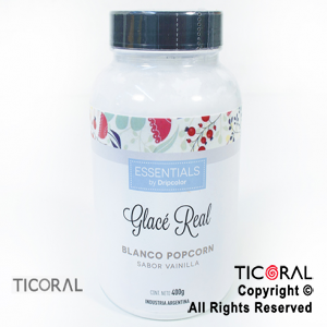 GLACE REAL BLANCO POPCORN 400GR x 1