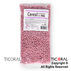 CEREAL CHOCOLATE COLOR ROSA X200GR