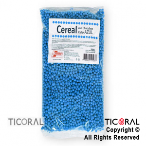 CEREAL CHOCOLATE COLOR AZUL X200GR