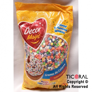 FORMITAS PARA CUPCAKES CORAZON MULTICOLOR DECOR MAGIC 1 KG X 1