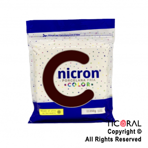 PORCELANA FRIA NICRON COLOR MARRON X 250 GR x 1