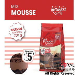 MOUSSE CHOCOLATE X 250GR LODISER x 12