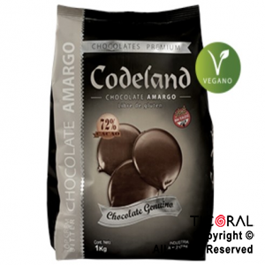 CODELAND CHOCOLATE TOP CREM BITTER 72 SEMIAMARGO X 1 KG