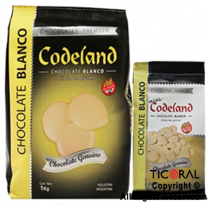 CODELAND CHOCOLATE BLANCO X 1 KG