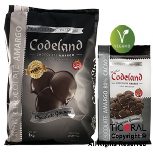 CODELAND CHOCOLATE TOP CREM BITTER 80 SEMIAMARGO X 1 KG