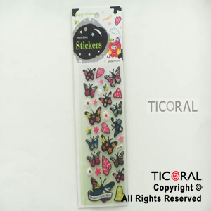 STICKER HS5639-9 MARIPOSAS DARK (24X8CM) x 12