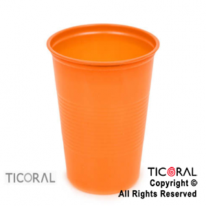 VASO 180CC COLOR /K/ NARANJA x 50