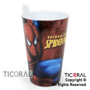 SPIDERMAN VASO BOMBILLA x 1
